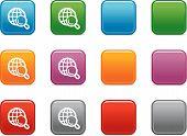 Botones de colores con el icono de búsqueda Web