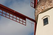 Close Up Of Solvang Windmill