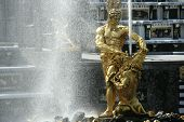 stock photo of samson  - famous fountain of petergof  - JPG