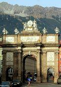INNSBRUCK, AUSTRIA - NOVEMBER 23, 2012: Triumphal Arch on November 23, 2012 in Innsbruck, Austria