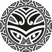 Traditional Maori Taniwha tattoo design. Editable vector illustration.