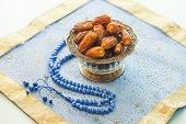 Islamic rosary with dates