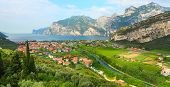 Aerial view of the Nago�¢�?�?Torbole situated in the northern part of The Lake Garda (Lago di Ga