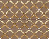 Seamless Pattern With Boomerangs And Arrows