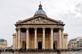 View Of Pantheon From Place Du Pantheon In Paris , Paris