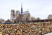 Pont De L Archeveche With Love Padlocks In Paris