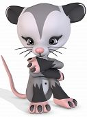 Cute Opossum - Toon Figure