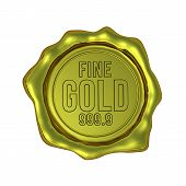 Fine Gold 999.9 - Isolated