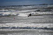 Kiteboarding In Storm