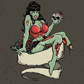 Zombie Pinup And Banner
