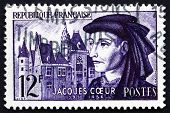Postage Stamp France 1955 Jacques Coeur, French Merchant