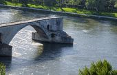 picture of avignon  - Unfinished Pont Saint - JPG