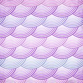 Pink retro fish scales vector seamless pattern