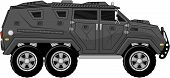 armored truck vehicle vector
