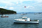 Lobster boats at Frenchman Bay near Bar Harbor, Maine