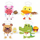 Cute Cartoon Animal Cook Collection
