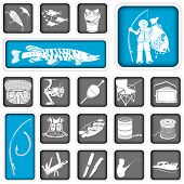 Fishing Squared Icons