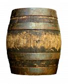 stock photo of fermentation  - Isolated Of Vintage Grungy Old Wooden Beer Cask Or Barrel - JPG