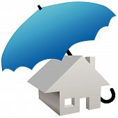 House Protected By Safety Home Umbrella