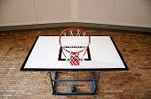 Basketball Hoop From Below