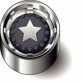 Rubber button round star
