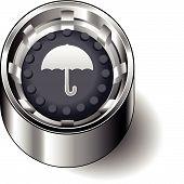 Rubber button round umbrella protect