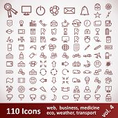 Icons. Large Set. 110 Items
