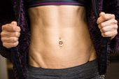 Selective Focus On Woman's Fit Abs