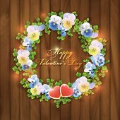 Happy Valentine's Day Floral Greeting Card