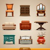 image of settee  - Furniture icons - JPG