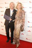 Richard Branson and Sharon Stone  at the Rock The Kasbah Gala to benefit Virgin Unite and the Eve Br