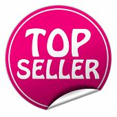 Top Seller Round Pink Sticker On White Background