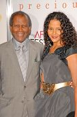 Sidney Poitier and daughter Sydney Poitier at the AFI Fest Premiere of 'Precious,' Chinese Theater, Hollywood, CA. 11-01-09