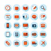 Flat design modern vector illustration icons set on business and finance theme
