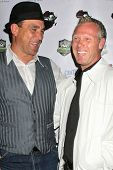 Vinnie Jones and Warrem Barton at the World Cup Showdown Fundraiser, El Guapo Cantina, Los Angeles, CA.  11-06-09