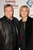 Meat Loaf and wife Deborah Gillespie  at the International Myeloma Foundation's 3rd Annual Comedy Ce
