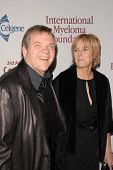 Meat Loaf and wife Deborah Gillespie at the International Myeloma Foundation's 3rd Annual Comedy Cel
