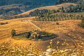 Tuscan Farm Countryside Scenery