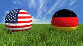 pic of palace  - 3D soccer balls with usa and germany flag - JPG