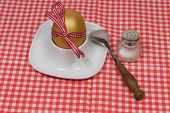 Golden Egg In An Egg Cup And Spoon Loop