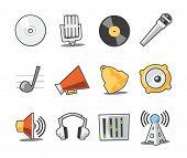 Colección fresca de los iconos de música - Set 6