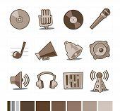 Música los iconos colección Retro fresco - Set 6