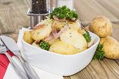 Bowl With Fried Potatoes