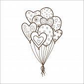 Heart air balloons batch.