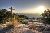 Cross at the mountain top