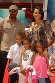 Antoine Fuqua with Lela Rochon and family at the World Premiere of 'G-Force'. El Capitan Theatre, Ho