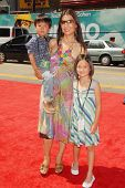 Ming-Na with her son and daughter at the World Premiere of 'G-Force'. El Capitan Theatre, Hollywood, CA. 07-19-09
