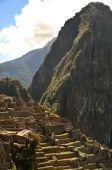 Detail ruins of Machu Picchu, Peru, South America