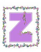 Alphabet Daisy Fair Lilac Z