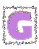 Alphabet Daisy Fair Lilac G